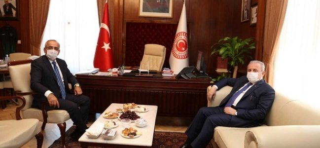 Başkan Şentop'tan Başkanvekili Akar'a Ziyaret