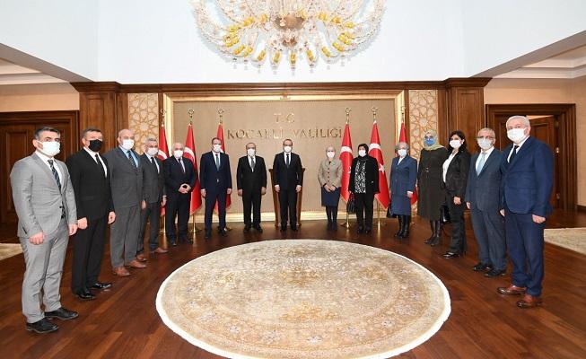 Nüfus Müdürleri Vali Yavuz'u ziyaret ettiler