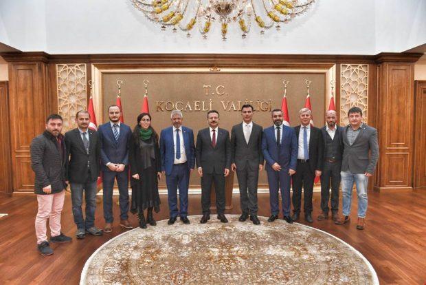 Kocaeli Gazeteciler Cemiyeti Vali Aksoy'la