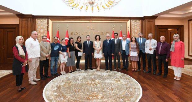 Vali Aksoy'dan teşekkür belgesi