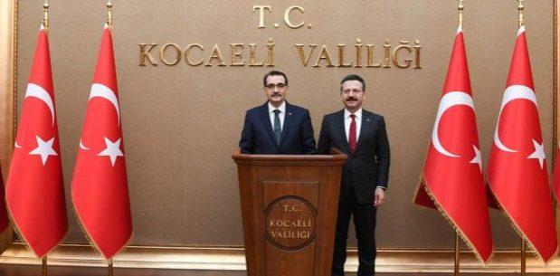 Bakan Dönmez,Vali Aksoy'u ziyaret etti