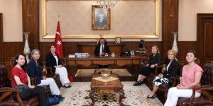 Türk Üniversiteli Kadınlar'dan Vali Aksoy'a Ziyaret