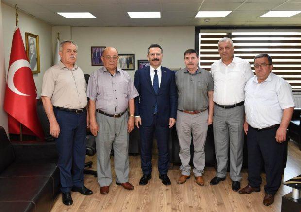 Vali Aksoy'dan Otomobilciler Odasına Ziyaret