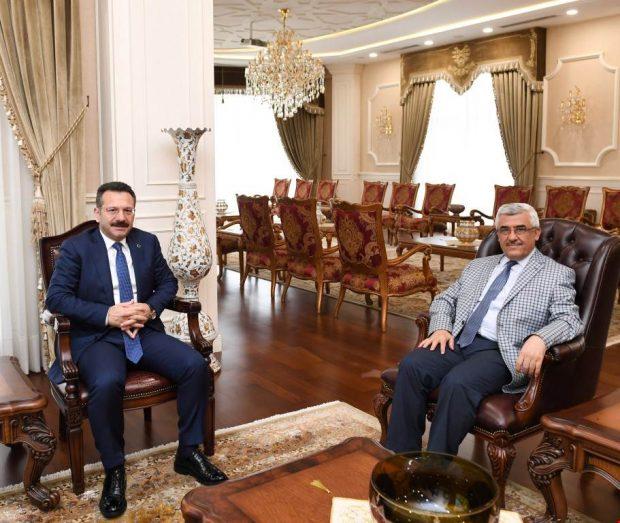 Kaymakam Aksak'tan Vali Aksoy'a Ziyaret