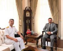 Tuğamiral Kılıç, Vali Aksoy'u ziyaret etti