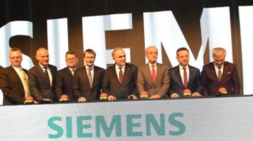 Bakan Faruk Özlü Gebze'de Siemens Fabrika Açılışında