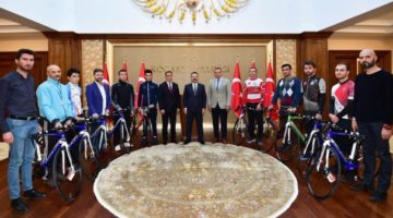 Bisikletler törenle kulüplere teslim edildi