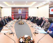 Vali Aksoy,İl Başkanları ile buluştu