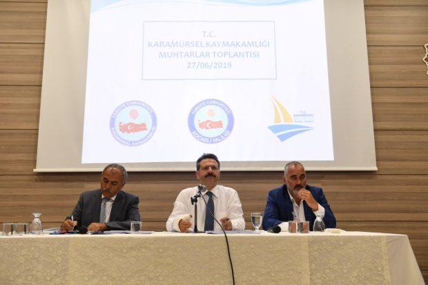 Muhtarlar Toplantısı Karamürsel'de Yapıldı