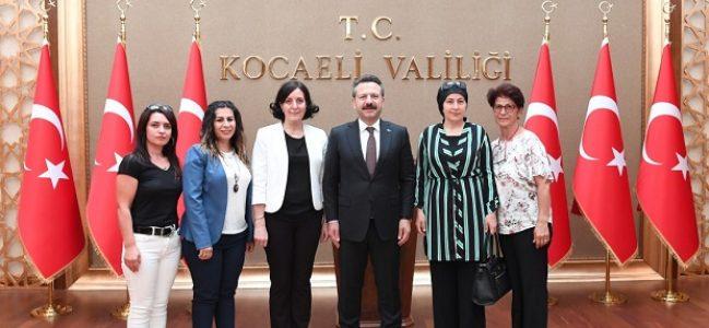 Kadın Muhtarlar Vali Aksoy'u Ziyaret Etti