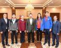 Başarılı Sporcu ve Gençler Vali Aksoy'u Ziyaret Ettiler
