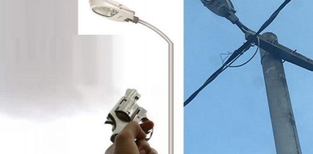 Şehir magandaları sokak lambalarını kurşunluyor