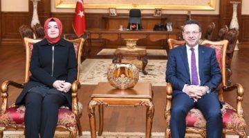 Vali Aksoy,Bakan Sayan Kaya'yı Ağırladı