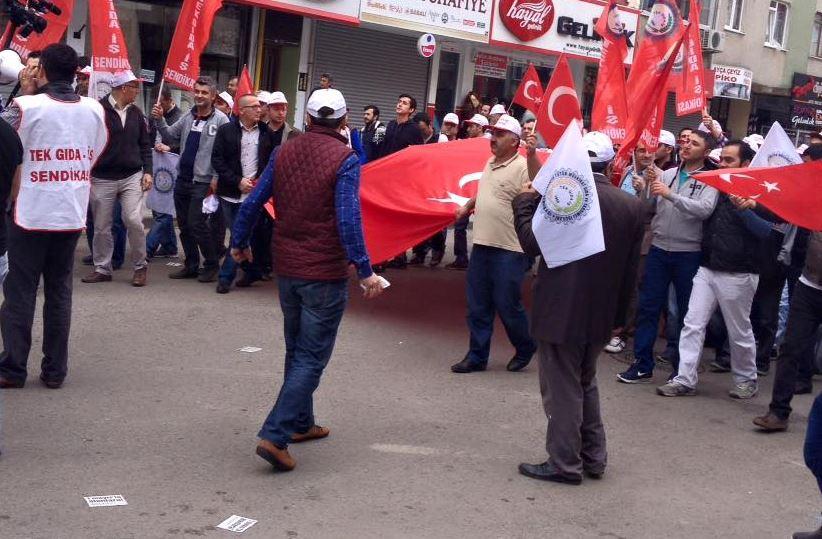 Gebze'de 1 Mayıs İşçi Bayramı yürüyüşü başladı