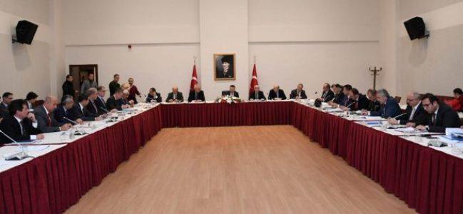 Vali Aksoy Başkanlığında 'Değerlendirme Toplantısı'