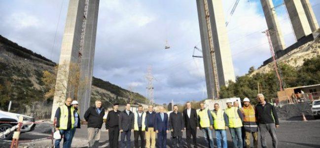 Kuzey Marmara Otoyolu Projesi tüm hızıyla devam etmekte