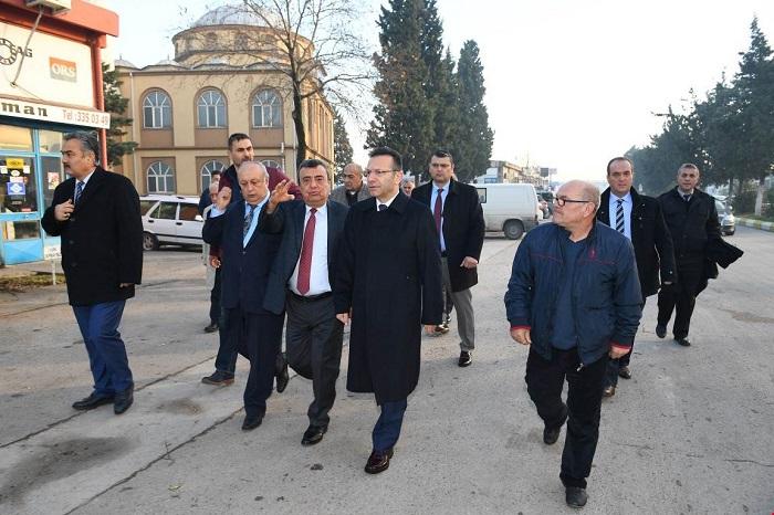Vali Aksoy, İzmit Sanayi Sitesi Esnaflarıyla