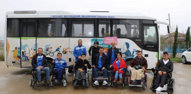 Engelli sporculara Büyükşehir'den ulaşım hizmeti