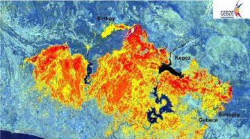 Optik ve termal uydu görüntüleri ile haritalandırıldı
