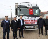 Başkanlar yardım tırını Elazığ'da karşıladı