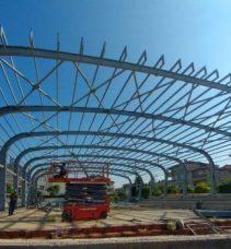 Spor salonu inşası hızlı ilerliyor