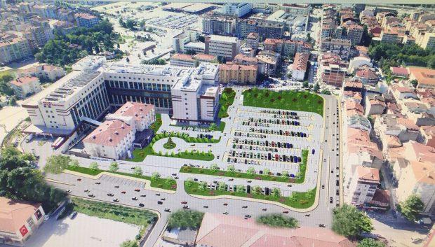 Devlet Hastanesi'ne 310 araçlık otopark