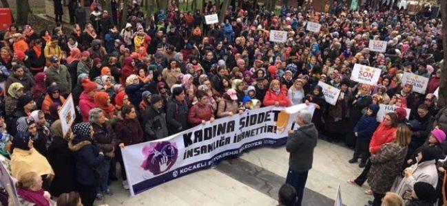 Kadına yönelik şiddete dur demek için yürüdüler