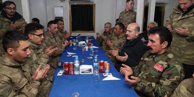 Bakan Soylu Yeni Yıla Jandarma Komandolarla Girdi