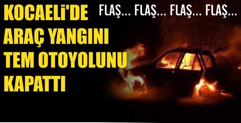 Kocaeli'de araç yangını !