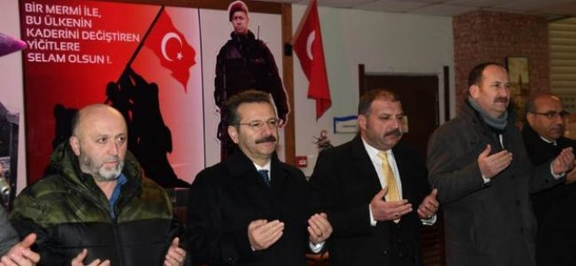 Vali Aksoy 'Bereket duası'na katıldı