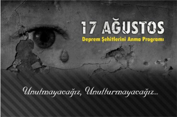 17 Ağustos Deprem Şehitlerini Anma Programı
