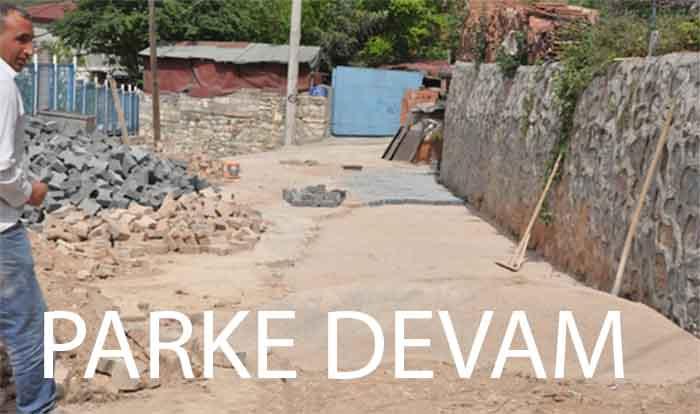 Dilovası'nda sokaklara parke çalışmaları devam ediyor
