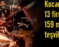 Kocaeli'de 13 firmaya 159 milyon teşvik