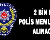 2 bin 500 polis memuru alınacak
