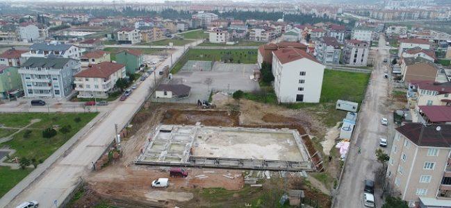 Derince Anadolu İHL'ne spor salonu inşa ediliyor.