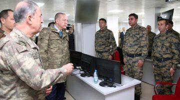 Cumhurbaşkanı, Zeytin Dalı Harekât Merkezi'ni Ziyaret Etti