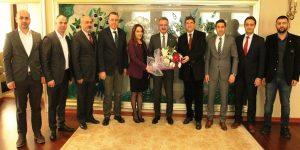 Başkan Köşker'in misafirleri KAISİAD yönetimi