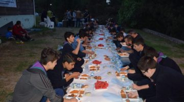 İLKÇEV, Gaziler 'de Kamp, İftar ve Sahur Programı Düzenledi