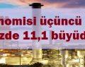 Türkiye ekonomisi üçüncü çeyrekte yıllık yüzde 11,1 büyüdü