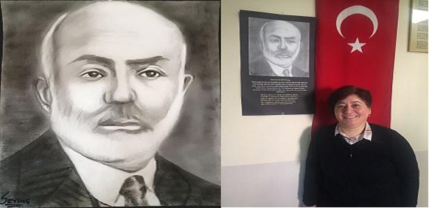 Mehmet Akif Ersoy Kara Kalem Çalışması