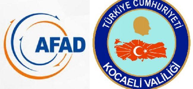 AFAD Kocaeli'den Basın Duyurusu