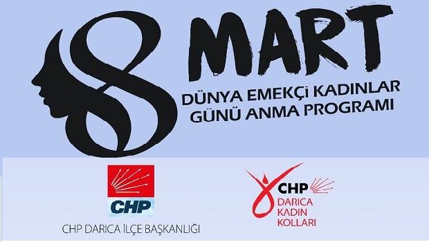 CHP Darıca Kadın Kollarından '8 MART'Daveti.