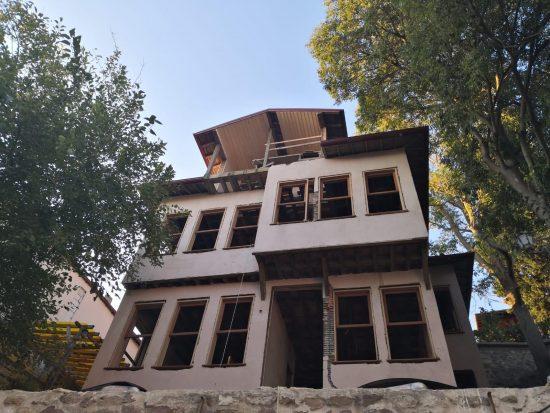 Pembe Köşk'ün restorasyon çalışmaları