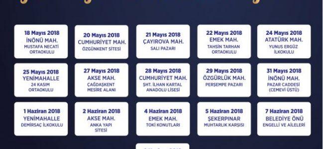 Çayırova Belediyesi'nden 9 mahallede iftar