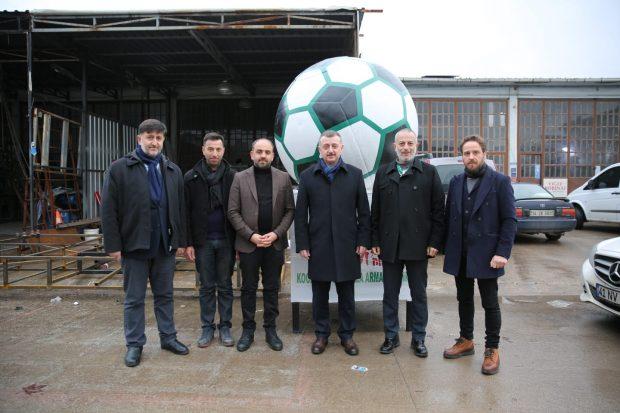 İsmetpaşa Stadı'nın sembol topları yeni statta yerini alacak