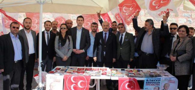 Büyükgöz'den MHP ve AK Parti standına ziyaret