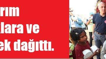 Başbakan Yıldırım Arakanlı çocuklara ve kadınlara öğle yemeği dağıttı.