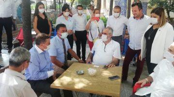 Türkkan sahada vatandaşı dinledi