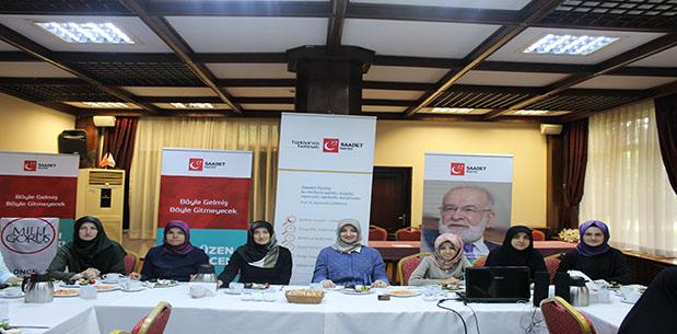 Saadet Partisi Kocaeli Kadın Kolları Çalışmaya Devam Ediyor