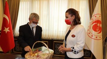 Kaymakam Yalçınkaya'ya 'Hoş Geldiniz' Ziyareti